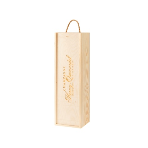 Étui en bois pour 1 magnum de Champagne avec marquage