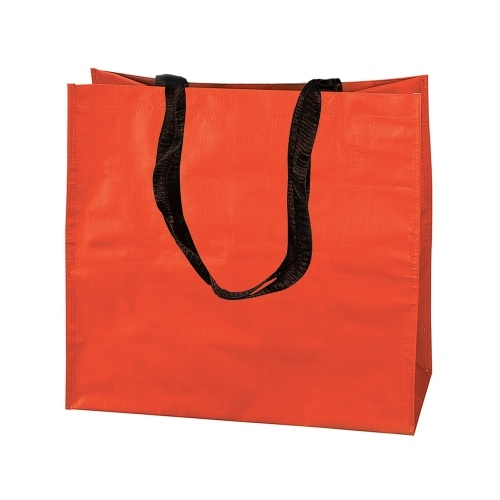 Grand sac orange avec sangles noires