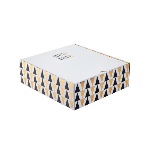 Coffret 3 bouteilles de Champagne noir et blanc avec triangles noir et or