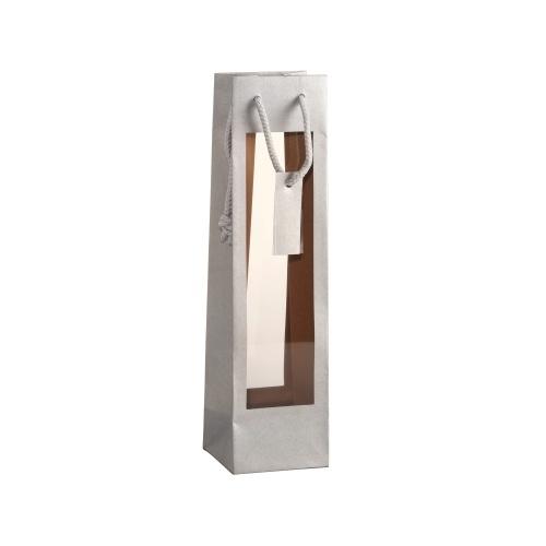 Sac Argent avec fenêtre transparente sur les 2 faces