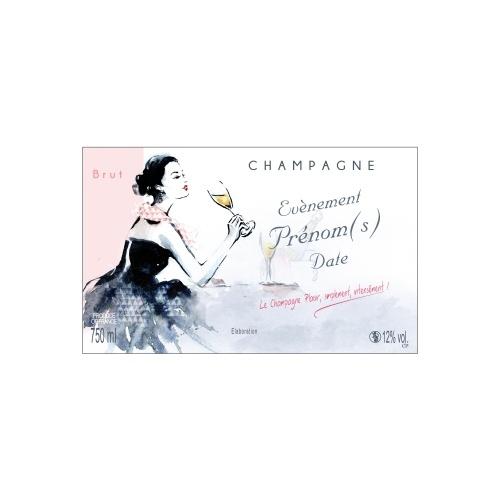 Étiquette de Champagne personnalisée pour un fêter un évènement