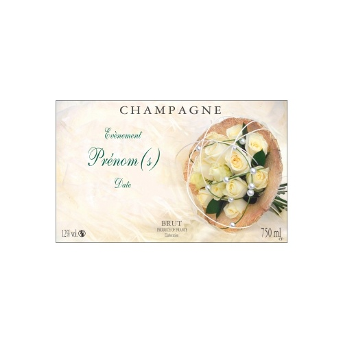 Étiquette de Champagne personnalisée pour un mariage