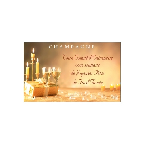 Étiquette de Champagne avec un décor festif pour personnaliser une bouteille