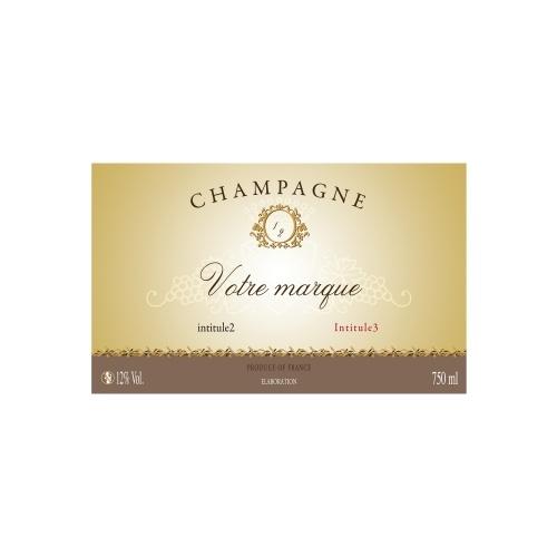 Étiquette de Champagne non-adhésive traditionnelle