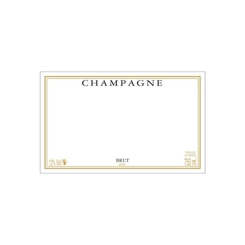 Étiquette de Champagne neutre avec cadre couleur doré
