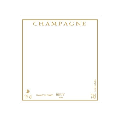 Étiquette de Champagne carré neutre avec cadre couleur doré