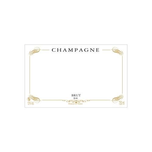 Étiquette de Champagne neutre avec un contour graphique couleur doré