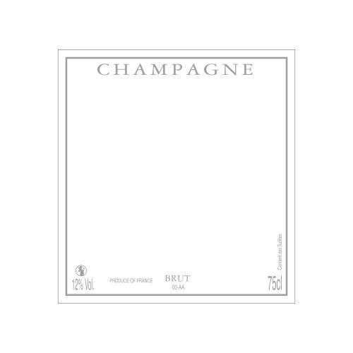 Étiquette de Champagne carrée neutre avec un liseré gris