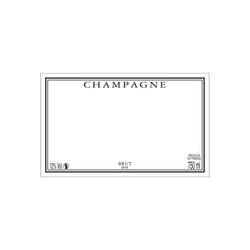 Étiquette de Champagne neutre avec un liseré noir