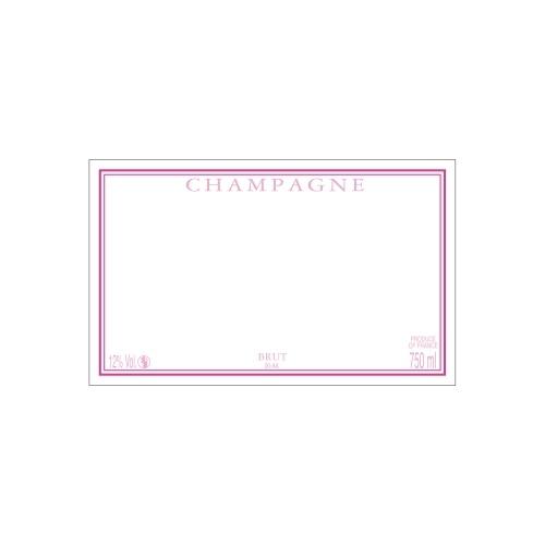 Étiquette de Champagne neutre avec un liseré rose