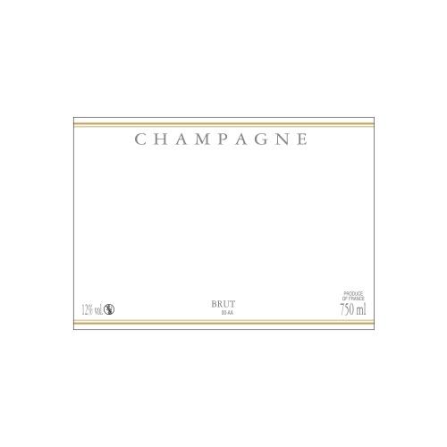 Étiquette de Champagne neutre avec un liseré or à chaud