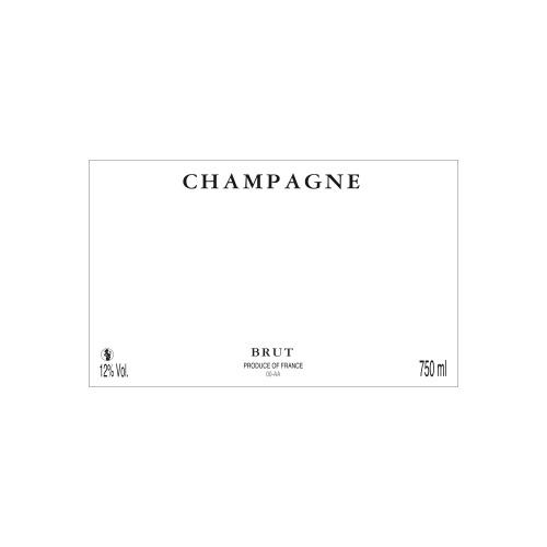 Étiquette de Champagne neutre avec les mentions et la ligne d'élaboration