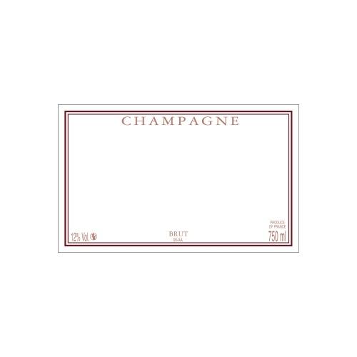 Étiquette de Champagne neutre avec un cadre bordeaux