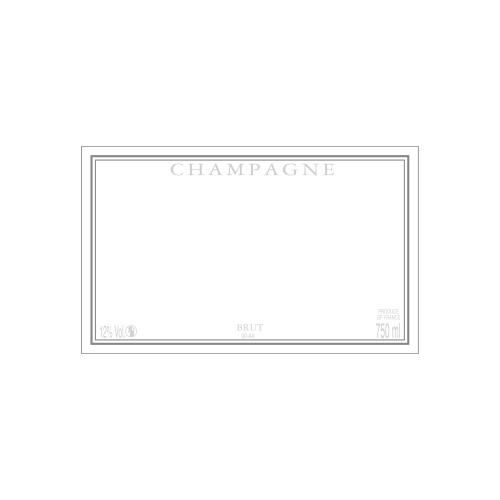 Étiquette de Champagne neutre avec un cadre gris