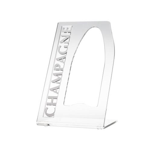 Porte bouteille transparent avec le mot champagne