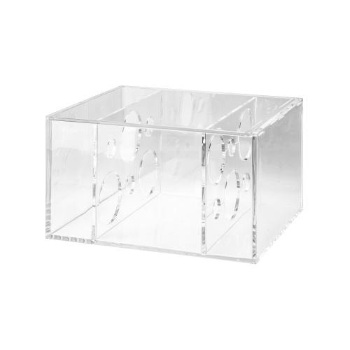 Caisse transparente pour 6 bouteilles de Champagne