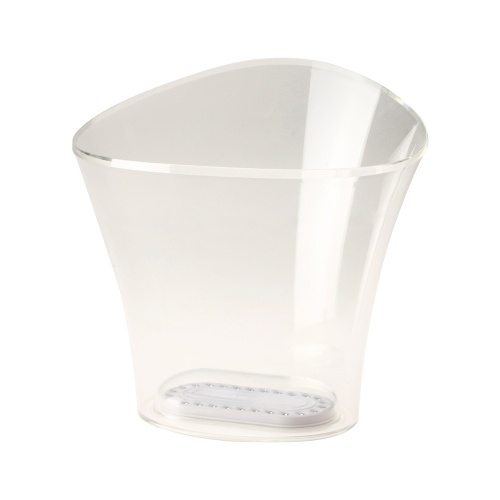 Seau transparent pour garder au frais les bouteilles de Champagne