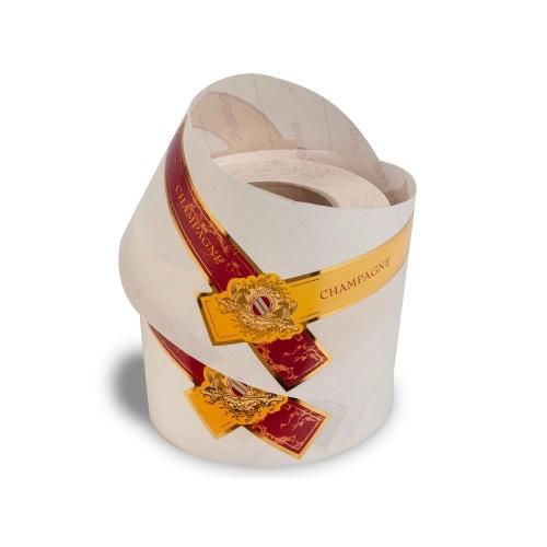 Collerette autocollante pour magnum rouge et jaune en bobine
