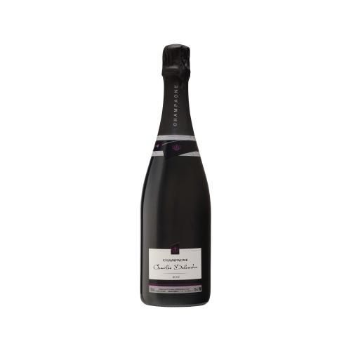 Bouteille de Champagne avec un sleeve noir