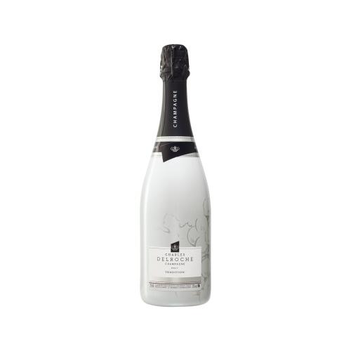 Bouteille de Champagne sleevée blanche