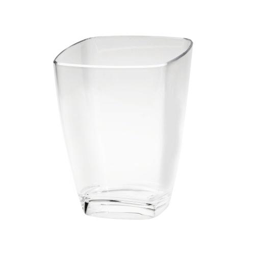 Seau carré transparent pour mettre une bouteille au frais